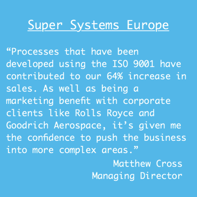 ISO Benefits quote from Super Systems Europe