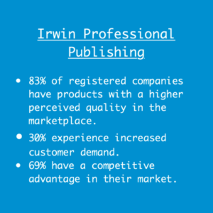 Graphic showing ISO benefits according to Irwin Professional Publishing