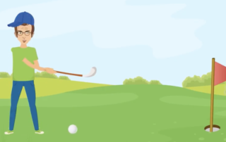 Quicklinks: golfer on the putting green