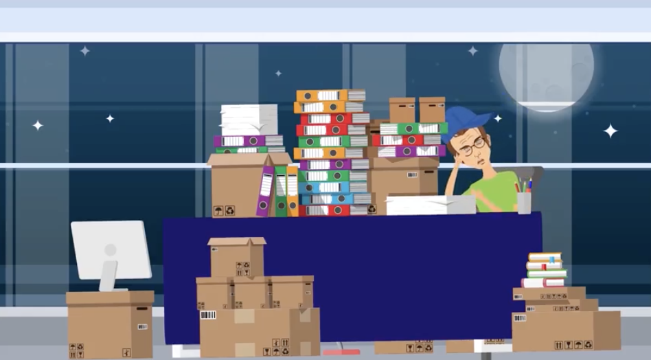 Quicklinks: boxes of paperwork