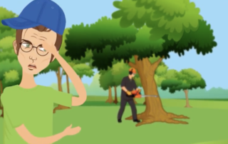 Quicklinks: tree being cut down on golf course