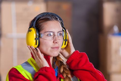 GrowEQ: woman wearing earmuffs